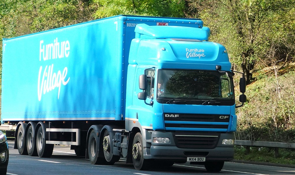 Bon Furniture Village DAF CF MX14 BOU (sab89) Tags: Hgv Lorries Lorry Trucks  Truck