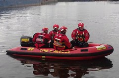 Humberside Fire & Rescue Launch  (Goole) (Gary Chatterton 4 million Views) Tags: firerescue launch boat humberside eastyorkshire goole riverouse rescue training emergencyservices flickr explore photography amateur bluelight