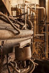 kneel. (stevenbley) Tags: abandoned decay rust warpedwood woodfloors urbex urbanexploration grime leakyroofs steelmanufacturing steel newjersey nj power industrial historical guerillahistorian canon5dmarkii 5dmk2 concrete