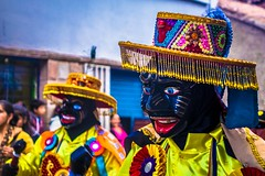 Amazing masks at the parades in Cusco.