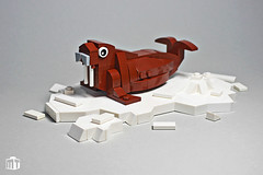 Walrus - never say never! (moctown) Tags: lego animal creature ice illustration arctic walrus