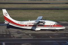 G-BMAR EDI 16-2-90 (Plane Buddy) Tags: gbmar shorts 360 loganair edinburgh edi