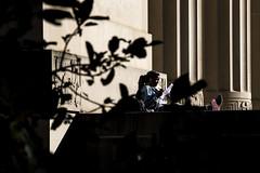 20171017_ILoveA2_JX002 (Michigan Engineering) Tags: woman dei diversity environmentengineering ee undergraduatestudent urm individual campus studying negativespace campuslife contrast shadows horizontalframing cee diag