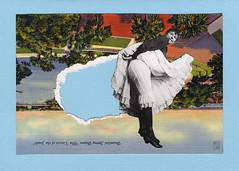 venice of the south (argyle plaids) Tags: collage collageart collageartwork papercollage paperart handmadecard handmadecards paperartist collageartist seattleartist collages artforsale oneofakind handmade analog analogcollage analogart handmadeart myart artoftheday collageoftheday collagesociety artnerd affordableart fineart modernart smallart contemporary contemporaryart graphicart graphicdesign design vintage vintageart vintageartwork papercutart handcut cutandpaste etsyseller etsyshop etsymaker pnwartist surrealartwork surrealism surrealist surrealismo surreal surrealart postcard vintagepostcard kickers bloomers undercarriage woman fart farting flatulence gas blast bentover bendover anomaly kissmyass girlpower flatulent rip ripped torn rippedpaper tornpaper vintagewoman vintagelady upskirt