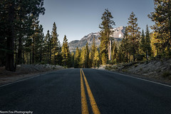 Morning Road (NormFox) Tags: california forest landscape lassen mountains park road sky trees volcano