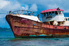 The Ghost Ship-3117 (islandfella) Tags: lilet petitcarenage kanache red boat vessel ship wreck shipwreck rusty seagulls gulls brownpelican mangrove coastline shallow sea caribbean westindies carriacou grenada grenadines island islandfella davon water