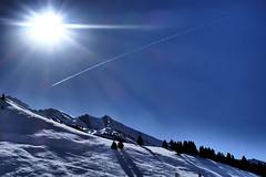 Cluzas, snowing mountain (Carandoom) Tags: snow neige mountain montagne sun soleil plane avion arbre trees cluzas france ciel landscape paysage