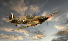 Hurricane (brian_stoddart) Tags: aircraft airshow flying warbird sky clouds vintage wartime uk