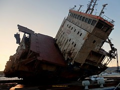 CABRERA  DSCF5781 (Chris Maroulakis) Tags: lavrion port shipwreck cabrera fuji x30 sunset chris maroulakis 2017 boat ship sea water sky vessel ocean