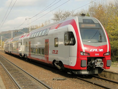 CFL Electric trainset N° 2313 in Walferdange.