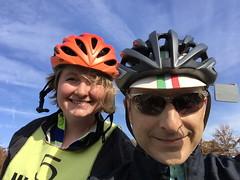 Selfie with Riley (Mr.TinDC) Tags: people friends me cyclists ted mrtindc riley selfie biking ciderride