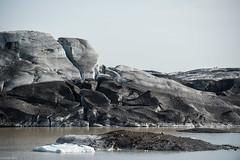 Ice Blocks & Ashes - Iceland (Toine B.) Tags: ice rocks glacier svínafellsjökull iceland islande shapes nikon d750 sigma 70200