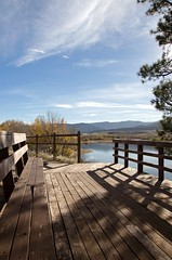 Have A Nice Day! (catmccray) Tags: chatfieldstatepark view fall observationdeck lake colorado bench