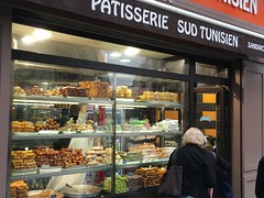 Paris, France.  Tunisian pastries in the Latin Quarter. (eurosaur) Tags: paris france tunisian pastries latin quarter