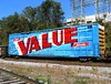 TBOX 663882 (1) (Proto-photos) Tags: a606 tagged spraypainted graffiti artwork colorful supervaluedelivers xgh61a xp boxcar railcar freightcar rollingstock southconnellsville pennsylvania 663882 tbox railbox train railroad wholecar airbrush hm ttx 60ft advertising advertisement gundersonconcarril