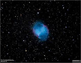 Messier 27 – The Famous Dumbbell Nebula