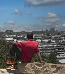 Kibera (AndreasPet) Tags: africa kenya kibera nairobi boy color ghetto human male outdoors slum vertical