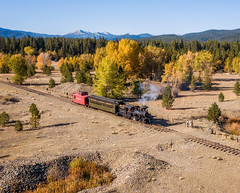 Sumpter Valley Railroad (Rustic Lens Photography) Tags: autumn dji drone fall historic mavicpro oregon railroad steamtrain sumpter train bakercity unitedstates