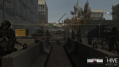 Raccoon City: Martial Law (Andy2 Spore) Tags: residentevil secondlife thehive roleplay raccooncity re2 re3 rp michigan military omegaconcern zday gas mask humvee tank virus tvirus outbreak biohazard