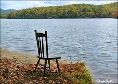 Chair By The Lake (Photos By Vic) Tags: chair blueridgeparkway northcarolina nc lake