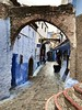 One of the streets throughout the Chefchaouen medina (EdwinVossen) Tags: rifmountains streets thebluepearl chechaouen chaouen chefchaouen tanger tangier morocco marokko medina