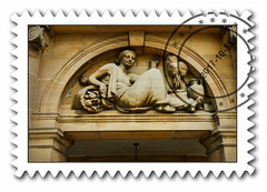 Lady Luck (Steve Taylor (Photography)) Tags: fruit basket urn greek art digital architecture brown white stone woman lady uk gb england greatbritain unitedkingdom london elthampalace frame franked
