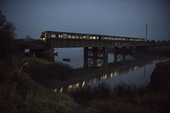 Fog on the Line (powern56) Tags: seamills seamillscreek riveravon bristol fog railway railwaybridge train passengertrain gwr greatwesternrailway class166 dmu dieselmultipleunit