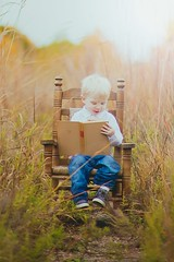 Golden Days II (ShaleyRenée.) Tags: nature indiana indianapolis indianapolisphotographer indianaphotographer indy indianaphotography country fall autumn children adorable cute child sunlight beautiful floral natural naturallight naturallighting warm book books rocking chair rockingchair lighting field bokeh flare sun