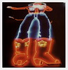 Big Tex Neon 3 (tobysx70) Tags: the impossible project tip polaroid sx70sonar sonar instant color film for sx70 type cameras impossaroid big tex statefairoftexas fair park dallas texas tx neon sign cowboy boots hat jeans star howdy folks lit illuminated night nocturnal looking up polacon2017 polacontwo polacon 092917 toby hancock photography