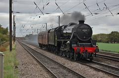 Black 5 heads South (paul_braybrook) Tags: 45212 lms class5 steamlocomotive black5 copmanthorpe grosmont southall york northyorkshire railway trains