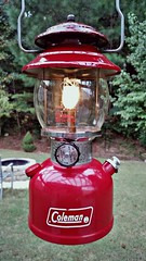 classic Coleman lantern (Dave* Seven One) Tags: vintagecolemanlantern colemanlantern coleman lantern gas gaspowered gasoline 200a coleman200a classic vintage old red madeinusa