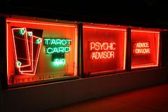 Fortune Teller (avilon_music) Tags: neon neonsigns fortuneteller tarotcards psychic nightneon signage signs markpeacockphotography nightshots 5dmkiii red streetscenes la