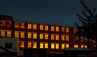 Golden windows at Preston