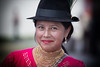 Ecuadorean woman (BDphoto1) Tags: southamerica quito ecuador woman one face smile hat ethnic cultural jewelry happy color colorful horizontal necklace gold