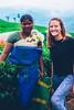Jess with Tea Plantation Worker - Munnar, Kerala (Michael and Jess) Tags: tea teaestate teaplantation landscape kerala munnar india drink green