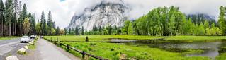 Flooded Yosemite Valley Panorama