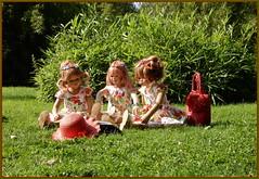 Lesestunde ... (Kindergartenkinder) Tags: grugapark essen gruga kindergartenkinder annette himstedt dolls bellis jinka margie