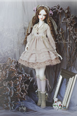 Tearose Hime (AyuAna) Tags: bjd ball jointed doll dollfie ayuana design handmade ooak clothing clothes dress set fantasy lolita romantic style sadol love60 yena whiteskin sewing crafting working