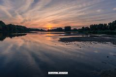 Lumière du soir (Christian LECHAT) Tags: coucher de soleil loire tours nuages couleurs arbres paysage