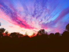 Beautiful evening sky (jasminefisher1) Tags: peaceful eveningsky sun eveningsun tranquil clouds sunset purple pink colours sky