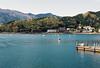 Lake Kawaguchi (Katie Tarpey) Tags: japan spring lake lakekawaguchi mountains water swanboats swanrides film 35mm agfa agfavistaplus400 nikonfm10 nikkor50mm14