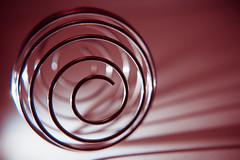 HMM: Spiral (donnicky) Tags: macromondays circle closeup dof indoors light macro madeofmetal metal nopeople publicsec shadow shape spiral