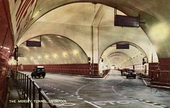 Mersey Tunnel, Liverpool, UK (SwellMap) Tags: postcard vintage retro pc chrome 50s 60s sixties fifties roadside midcentury populuxe atomicage nostalgia americana advertising coldwar suburbia consumer babyboomer kitsch spaceage design style