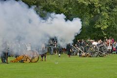 _1060365_edited-1 (ksztanko) Tags: theenglishcivilwarsociety reenactors waltonhall cannonfire smoke debris