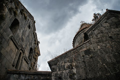 The roof flora (Tiigra) Tags: alaverdi loriprovince armenia am 2011 architecture church dome grass medieval monochrome plant rock roof sanahin tower