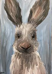 bunny (X) (My HobbyArt) Tags: art wall picture hobby acrylic painting rabbit hare bunny fluffy