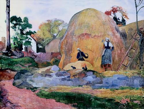 IMG_7593 Paul Gauguin. 1848-1903. Paris Polynésie.    Les meules jaunes ou la moisson blonde. The yellow wheels or the blonde harvest. 1889.  Paris Orsay.