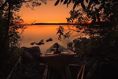 What? I just sleep here (petrisalonen) Tags: landscape summernight sunset sunlight digital photoshop summer yellow finland finnishnature night boat goose ducks water warm lake saimaa imatra