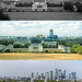 Looking North from Greenwich Park in 1963, 1990 and 2017 (Alan Denney) Tags: isleofdogs docklands greenwich london 1960s 1990s 27yearcycle