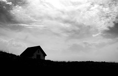 Cape Cod (Patrick Campagnone) Tags: capecod massachusetts bw blackandwhite landscape canoneos6d ef1740mmf4lusm highcontrast provincetown dunes beach shed shack grass